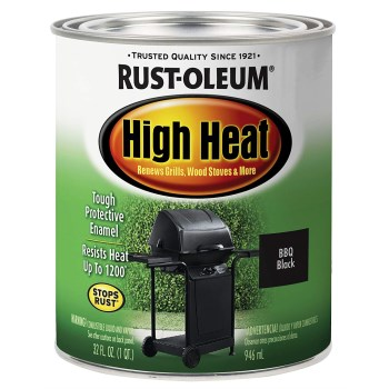 Rust-Oleum 7778502 High Heat Black Enamel - Quart