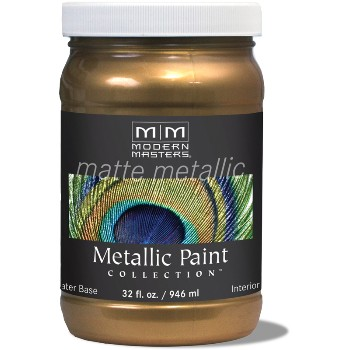 Matte Metallic Paint ~ Blackened Bronze, Quart