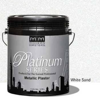 Plaster, Metallic  ~ White Sand/One Gallon