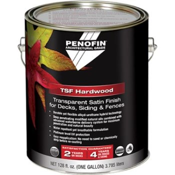 TMF  Architectural Hardwood Stain for Decks/Siding/Fences,  Ipe Satin ~  Gallon