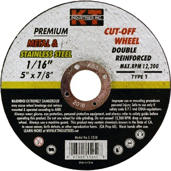 5in. X1/16 Cut Off Wheel