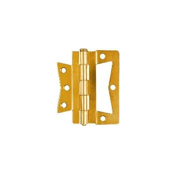 Brass N-M Hinge, Visual Pack 535 4 x 4 inches