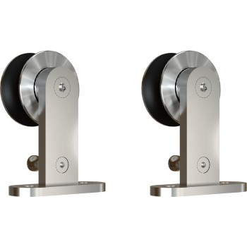 Sliding Door Hardware, Top Mount Hangers ~ Stainles Steel Finish
