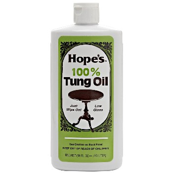 Tung Oil, 100% Pure ~ Hope Company,  One Pint