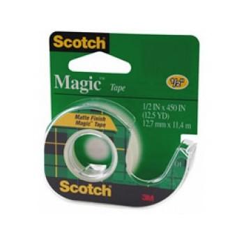 """3M 02120001022 Scotch Tape - Magic Clear, 1/2"""" x 450"""""""