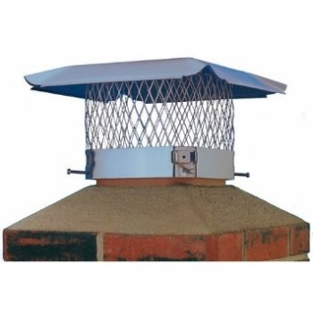 "Hy-C  SC1313 Chimney Cap, Galvanized Black ~ 13"" x 13"""