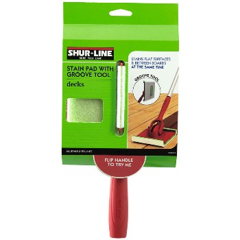 Shur-Line 1791257 Stain Pad W/ Grve Tool