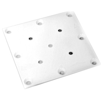 "Steel Post Mounting Plate, White  ~ 5"" x 5"""