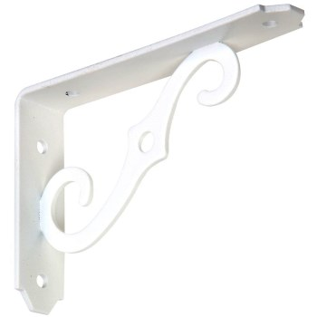 Ornamental Shelf Bracket, Antique White 5 x 3-1/2""