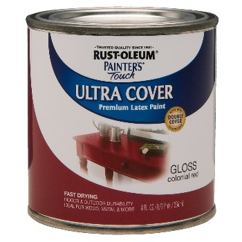 Ultra Cover Acrylic Latex, Colonial Red Gloss ~ Half Pint