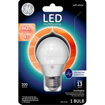 LED Ceiling Fan Bulb - 4 watt/40 watt - ~ Frosted
