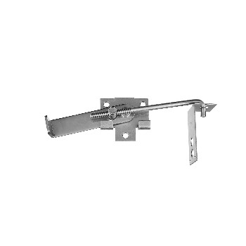 Sliding Door Jamb Latch, Zinc Plated ~ 7""
