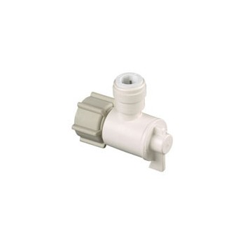 Quick Connect Angle Valve, 1 / 2 inches  FPT x 1 / 4 inches CTS