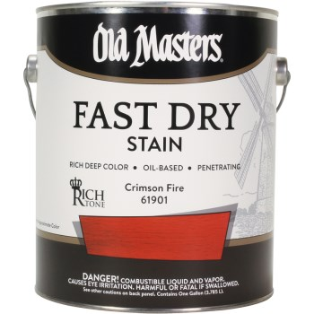 Fast Dry Wood Stain, Crimson Fire ~ One Gallon