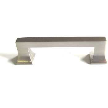 "Art Deco Cabinet Pull, Satin Nickel Finish ~ 3"" CTC"