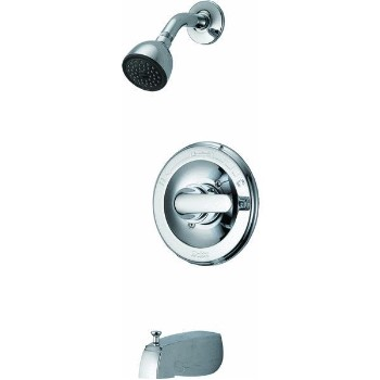 Tub and Shower Faucet, Single Lever ~ Chrome