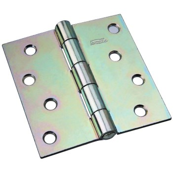 Non-Removable Pin Hinge ~ Zinc Plated Finish ~ 4""