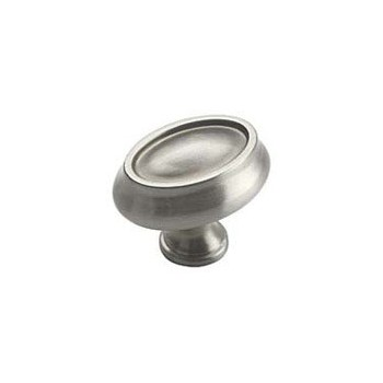 Knob - Oval - Satin Chrome Finish - 1.5 inch