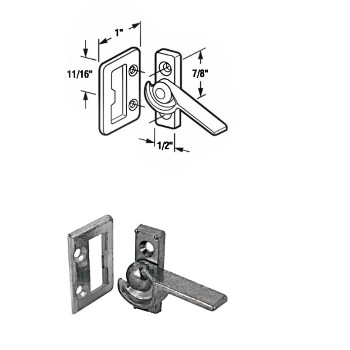 Sliding Window Latch ~ Left Hand ~ Bright Zinc