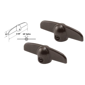 T-Crank Casement Handle, Bronze ~ 3/8""