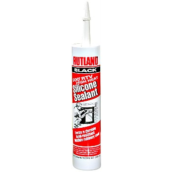 High-Heat Silicone Sealant, Black ~ 10.3 oz Tube