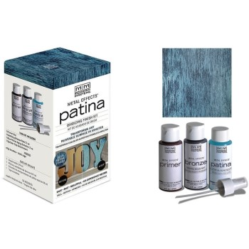 Metal Effects,  Blue Patina Finish Kit ~ 2 oz