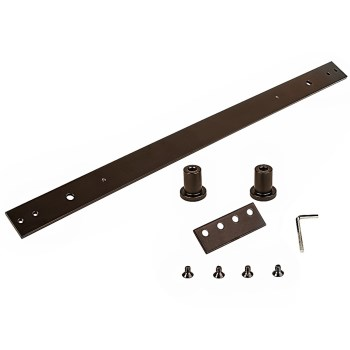 Sliding Door Hardware Track Extension Kit ~ Oil Rub'd Bronze