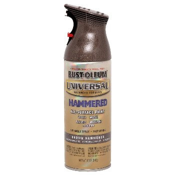 Rust-Oleum 245218 Universal Spray Paint, Hammered Brown
