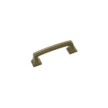 Pull - Mulholland Weathered Brass Finish - 3 inch