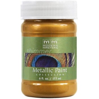 Metallic Paint, Tequila Gold 6 Ounce