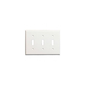 3 Gang Wh Wall Plate