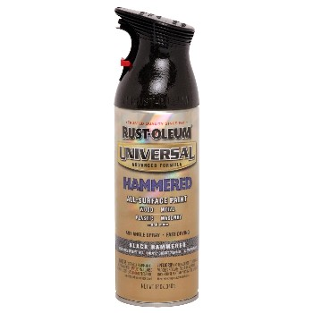 Rust-Oleum 245217 Universal Spray Paint, Hammered Black~12oz