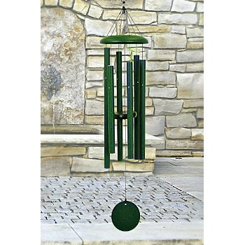"Windchimes, 36""  Corinthian Bells Series ~ Green"