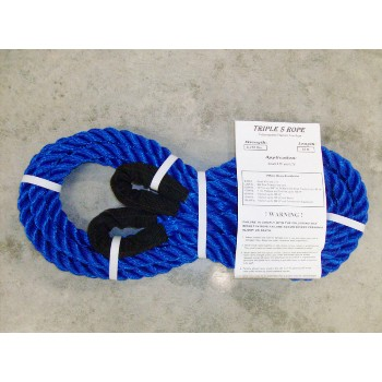 "Triple S Rope  TS-6.25LL15 Polypropylene Loop x Loop Tow Rope,  6,250 Lb ~  5/8"" x 15 Ft."