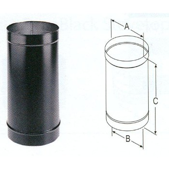 "Single Wall Stove Pipe, 24 Ga ~ 6"" x 12"""