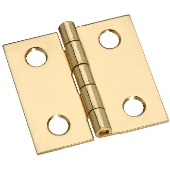"Broad Hinge, Solid Brass  ~ 1"" x 1"""