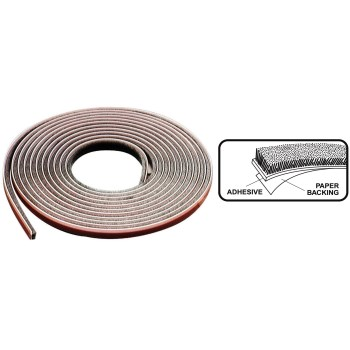 "Storm Door/Window Replacement Weatherstrip, Gray ~ 7/32"" thick x 1/4"" W x 17 Ft"