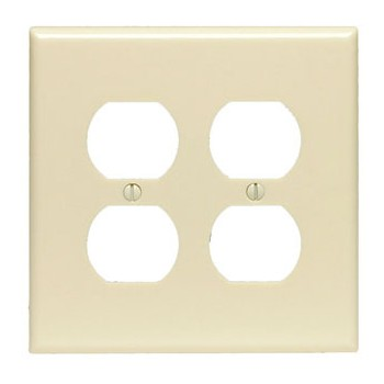 Duplex Receptacle Wall Plate ~ Ivory