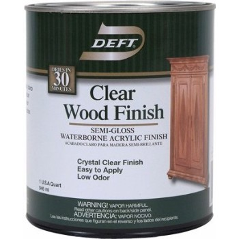 Water Wood Interior Finish, Semi-gloss  ~ Quart