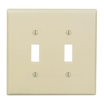 Two-Toggle Switch Plate - ~ Ivory