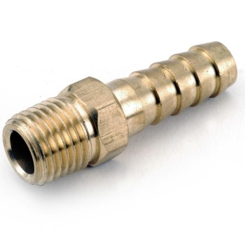 "Male Hose Barb, Lead Free ~ 1/8"" x 1/8"""
