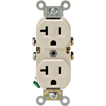 Commercial Grade Duplex Receptacle - 20 Amp ~ Light Almond