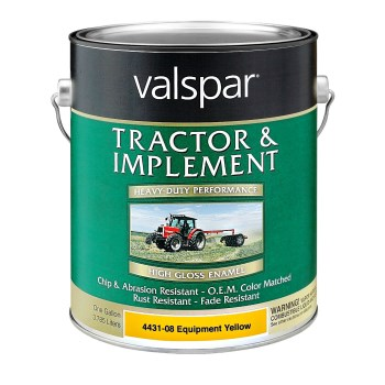Valspar/McCloskey 18-4431-08-07 Tractor & Implement Paint,  Yellow ~ Gallon