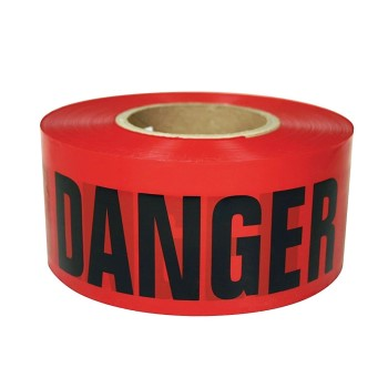 "Danger Safety Tape, Red ~ 3"" X 300 ft"