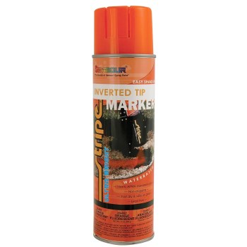 Seymour Paint 20-357 Stripe Inverted Tip Marking Paint, Fluorescent Orange ~ 20 oz Cans