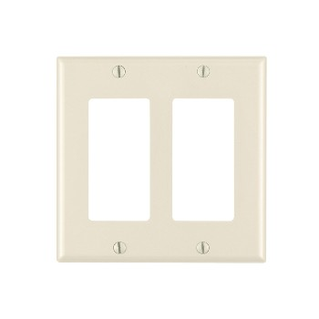 Decora 2-Gang Wall Plate ~ Light Almond