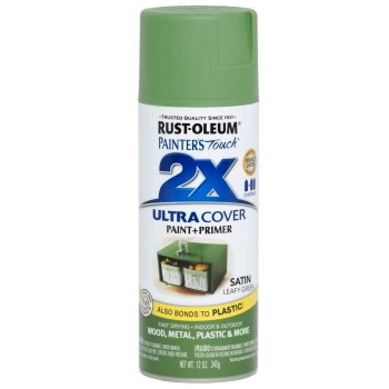 Painter's Touch 2x Ultra Cover Paint + Primer, Leafy Green Satin ~ 12 oz Aerosol