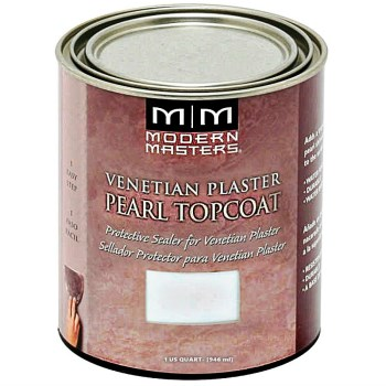Modern Masters VP303-32 Venetian Plaster Pearl Topcoat  ~ Quart