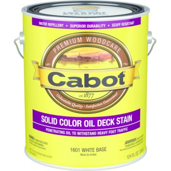Solid Color Oil Decking Stain, White Base ~ Gallon
