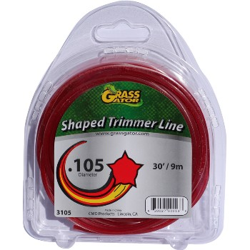 "Cmd Prods 3105l Star Shaped Trimmer Line ~ .105"" Diameter"